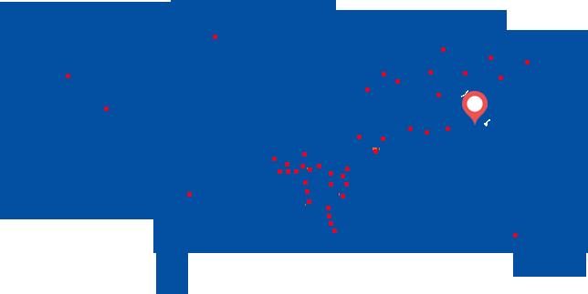 中国千赢国际下载app出口世界各地分布图